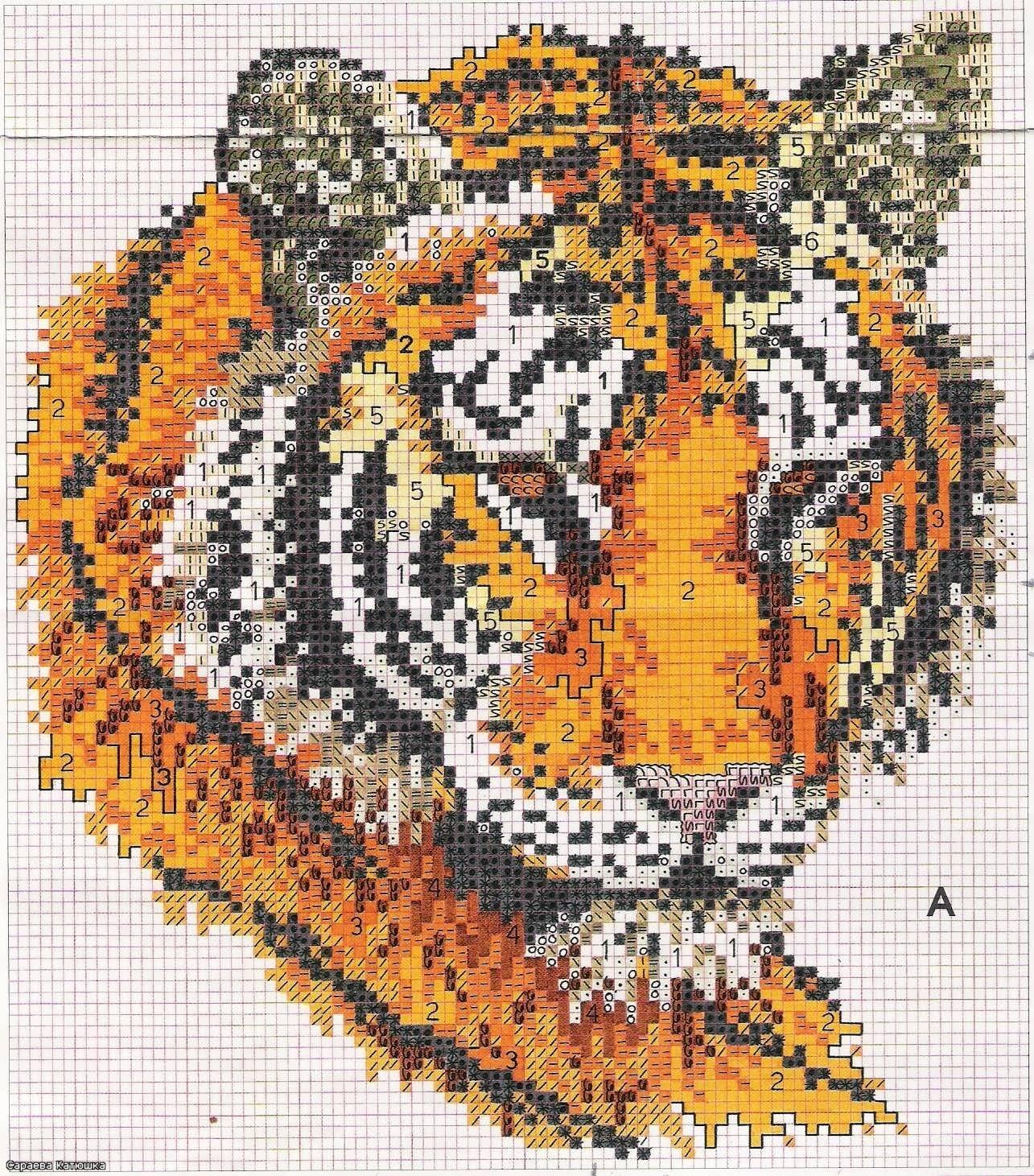 Graficos punto de cruz gratis tigres 29 - Videos de punto de cruz ...