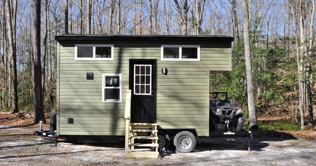 TINY HOUSE TOWN The Timberland Tiny House 195 Sq Ft