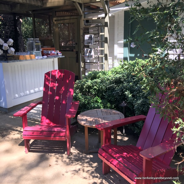 outdoor cafe at Long Meadow Ranch in St. Helena, California