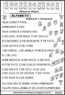 Música alfabetização alfabeto