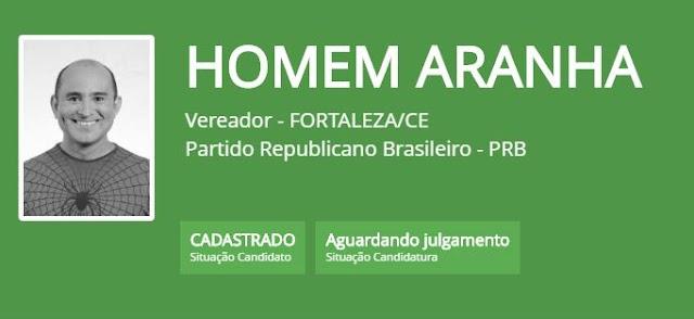 De 'Estrepiuda' a 'Homem Aranha, candidatos usam nomes bizarros na eleição de Fortaleza; veja lista