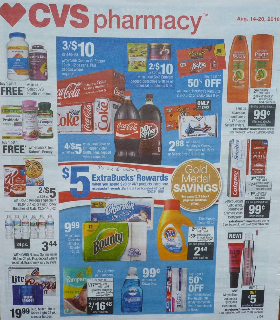 Simply Cvs Cvs Ad Scan Preview For The Week Of 8 14 16