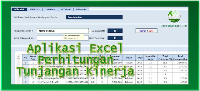 Aplikasi Excel Perhitungan Tunjangan Kinerja