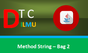 Method String pada Pemrograman Java