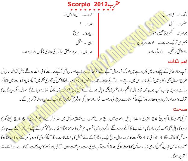 scorpio daily love horoscope in urdu