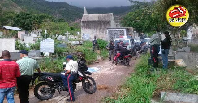 Asesinaron a tiros a un ciudadano sobre la tumba de Joaquín Crespo
