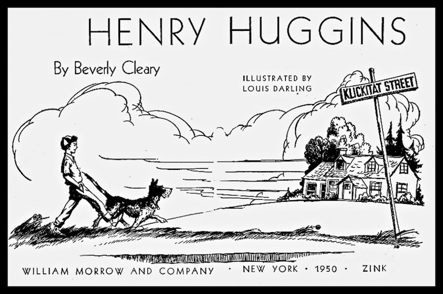 Henry Huggins by Beverly Clearly. Illustration by Louis Darling