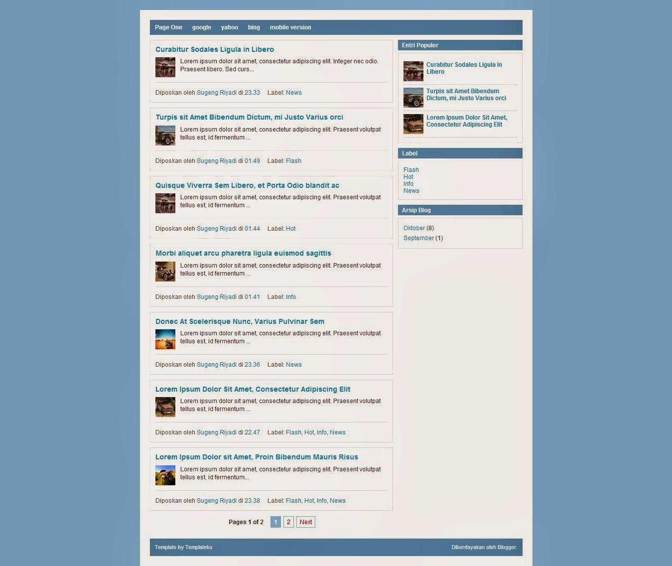 Template blog keren simple.