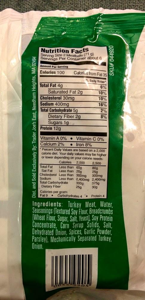 Trader joe 39 s nutrition labels trader joe 39 s turkey for Trader joe s fish oil