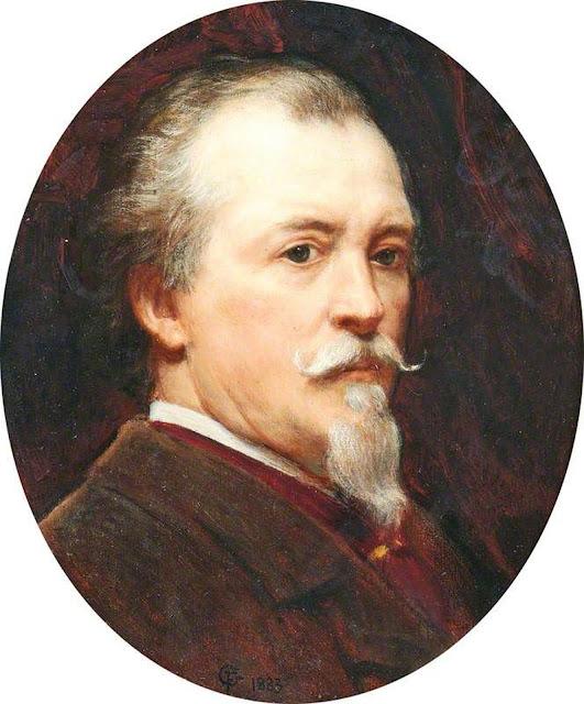 Frederick Goodall, Self Portrait, Portraits of Painters, Fine arts, Portraits of painters blog, Paintings of Frederick Goodall, Painter Frederick Goodall