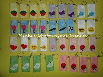 feltro-porta-pen drive-temas-variados-personalizado-morango-coração-jardim-encantado-joaninha-emotions-passarinho-tulipa-mustache-bigode