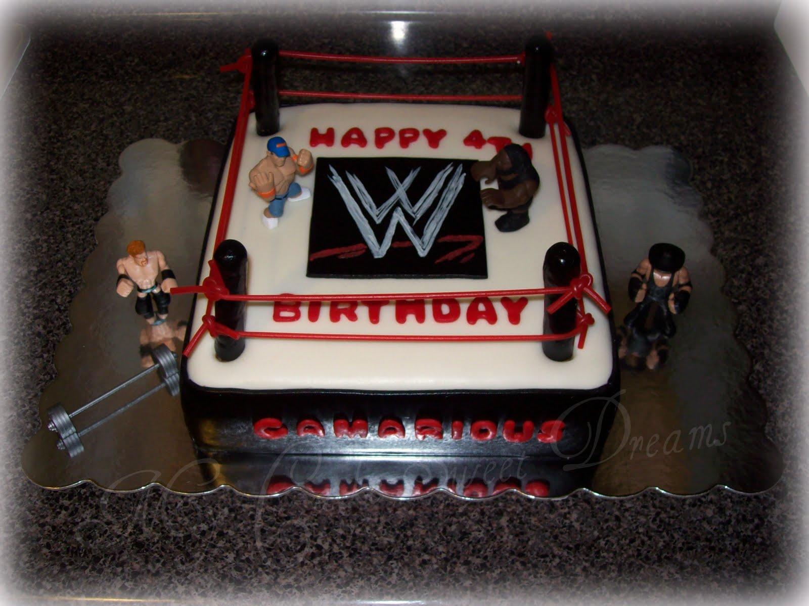 Wrestling Ring Birthday Cake