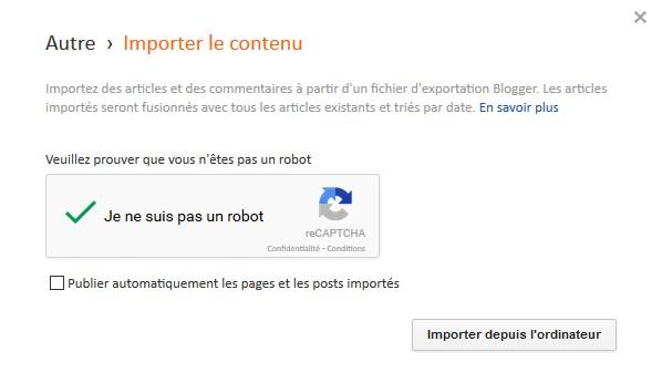 import blogger