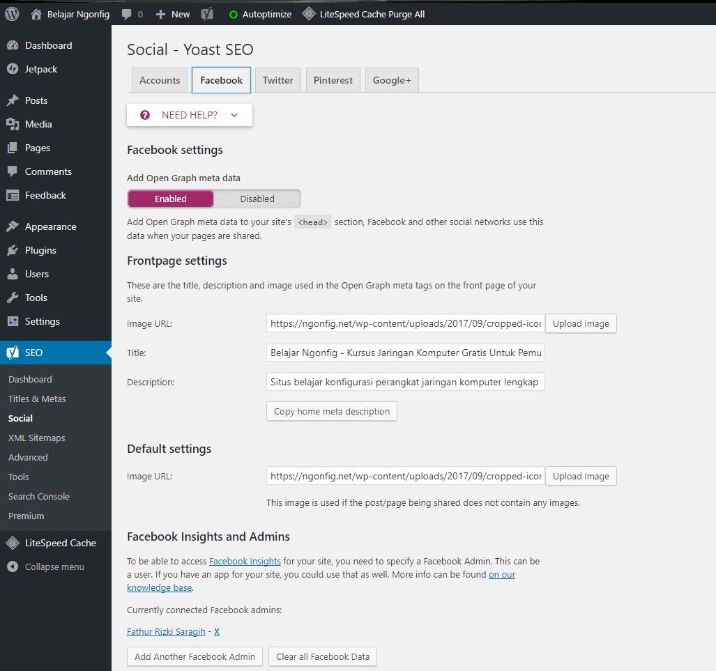 mengaktifkan open graph di wordpress
