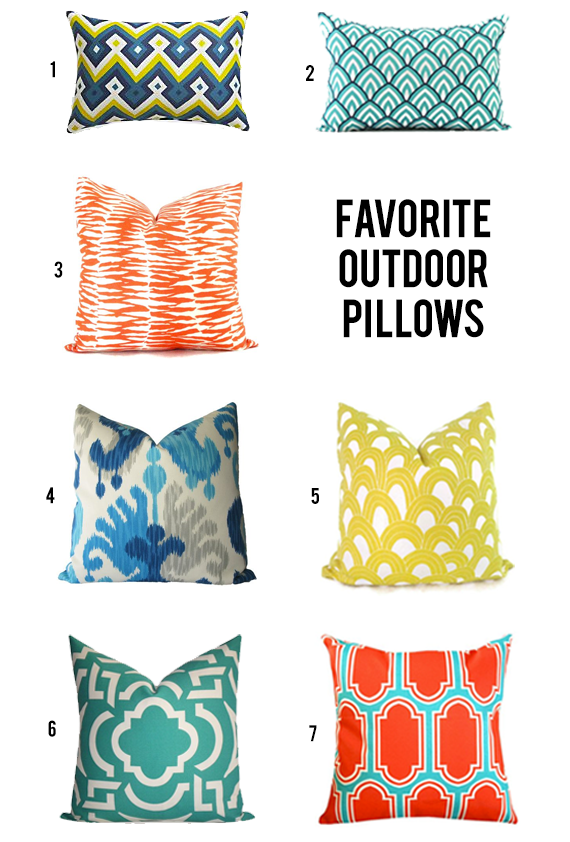 Our Favorite Outdoor Pillows // Bubby and Bean