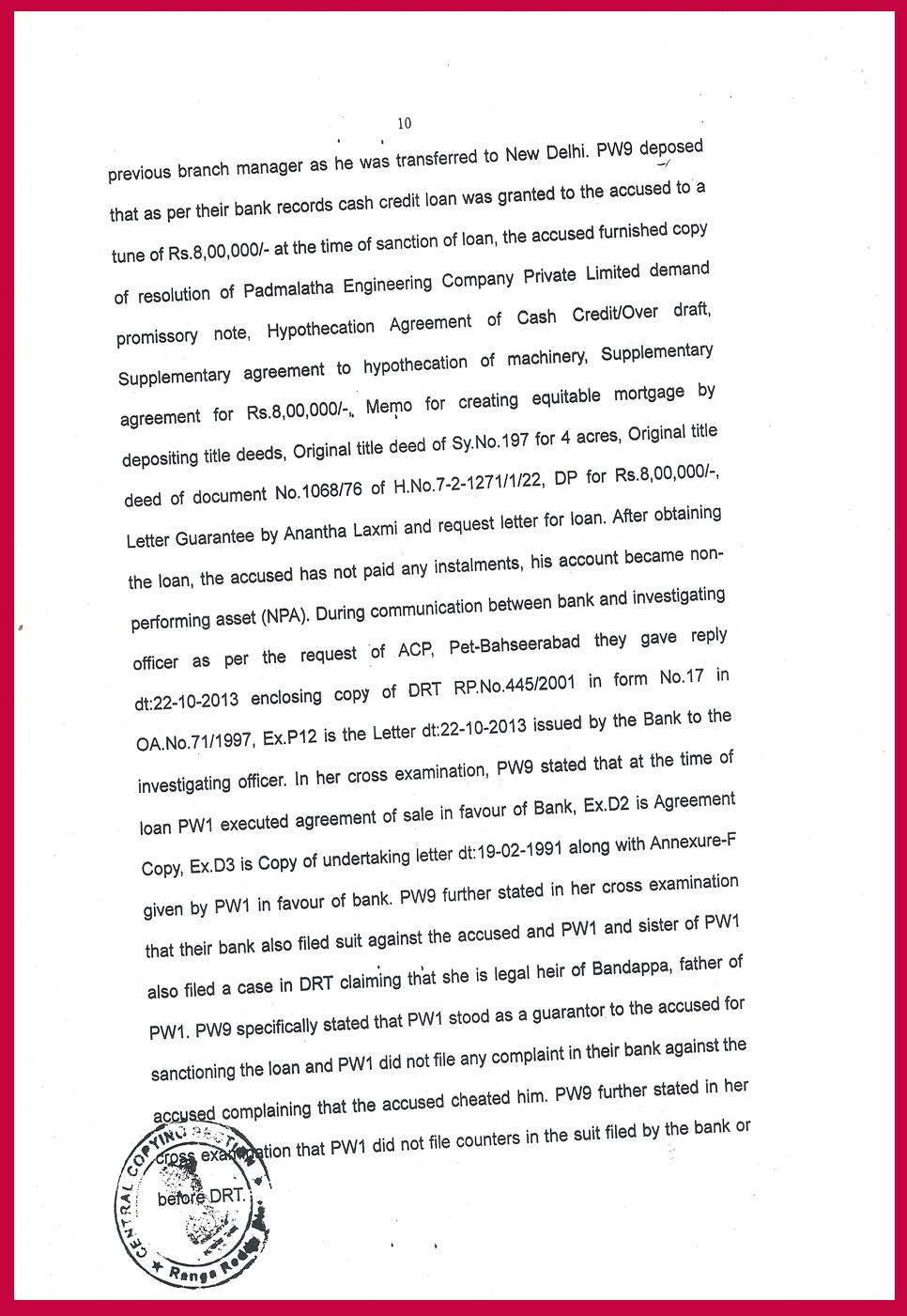 Ranga Reddy Court Judgment period 294 days-10