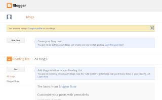 New Blog Button