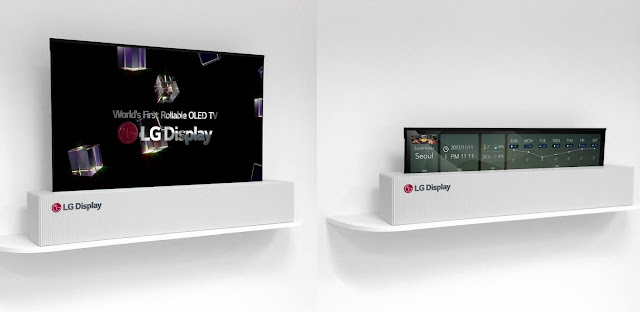 LG 65-inch rollable tv