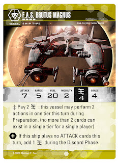 Dog Fight: Starship Edition ship card Brutus Magnus