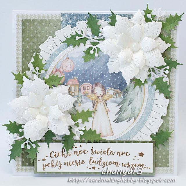 356. Kartka świąteczna z aniołkiem