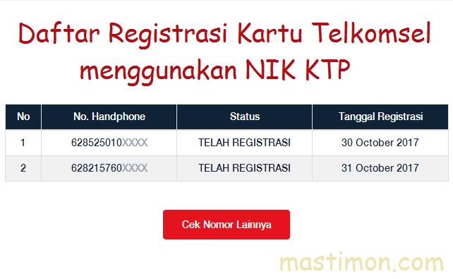 Cara mengetahui Nomor HP yang telah di Registrasi menggunakan NIK KTP