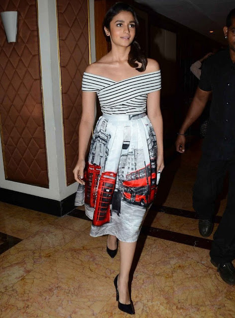 Alia Bhatt Off the Shoulder Dress