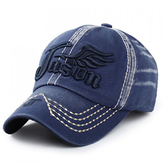 Stylish Letter and Wing Embroidery Baseball Cap For Men - BLUE - FREE SHIPPING