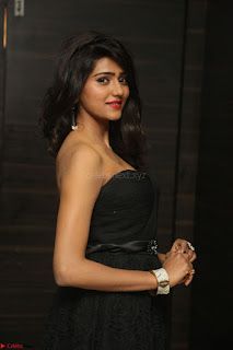 Shalu Chourasiya in spicy Sleeveless Strapless Black Top at O Pilla Nee Valla Movie Audio Launch Feb 2017 055.JPG