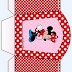 Minnie Red and Pink: Free Printable Basket.