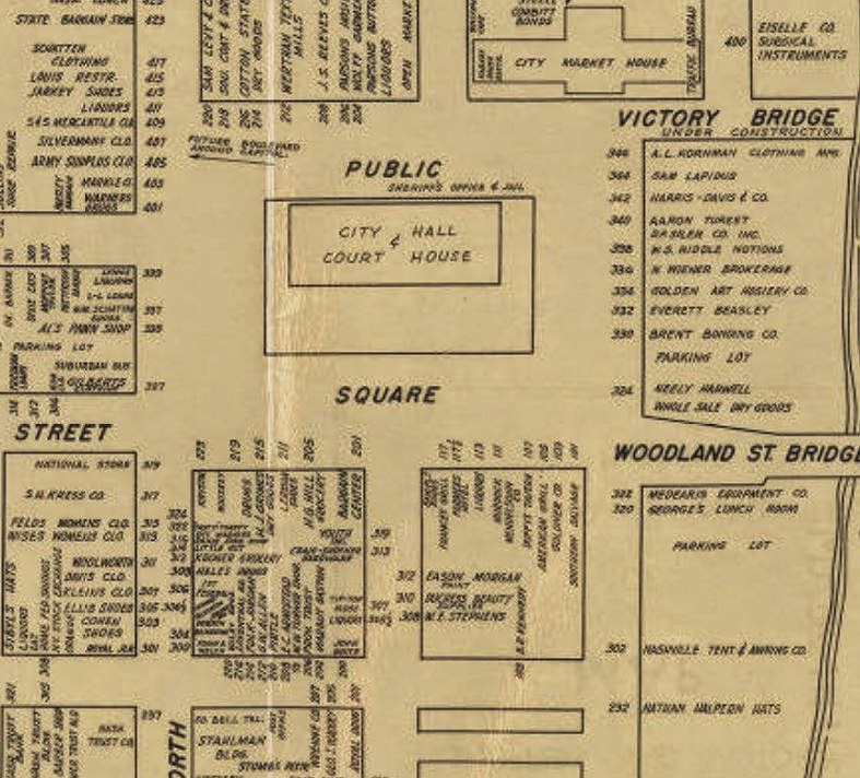 Nashville history nashville 39 s public square in the 20th for A v jennings home designs