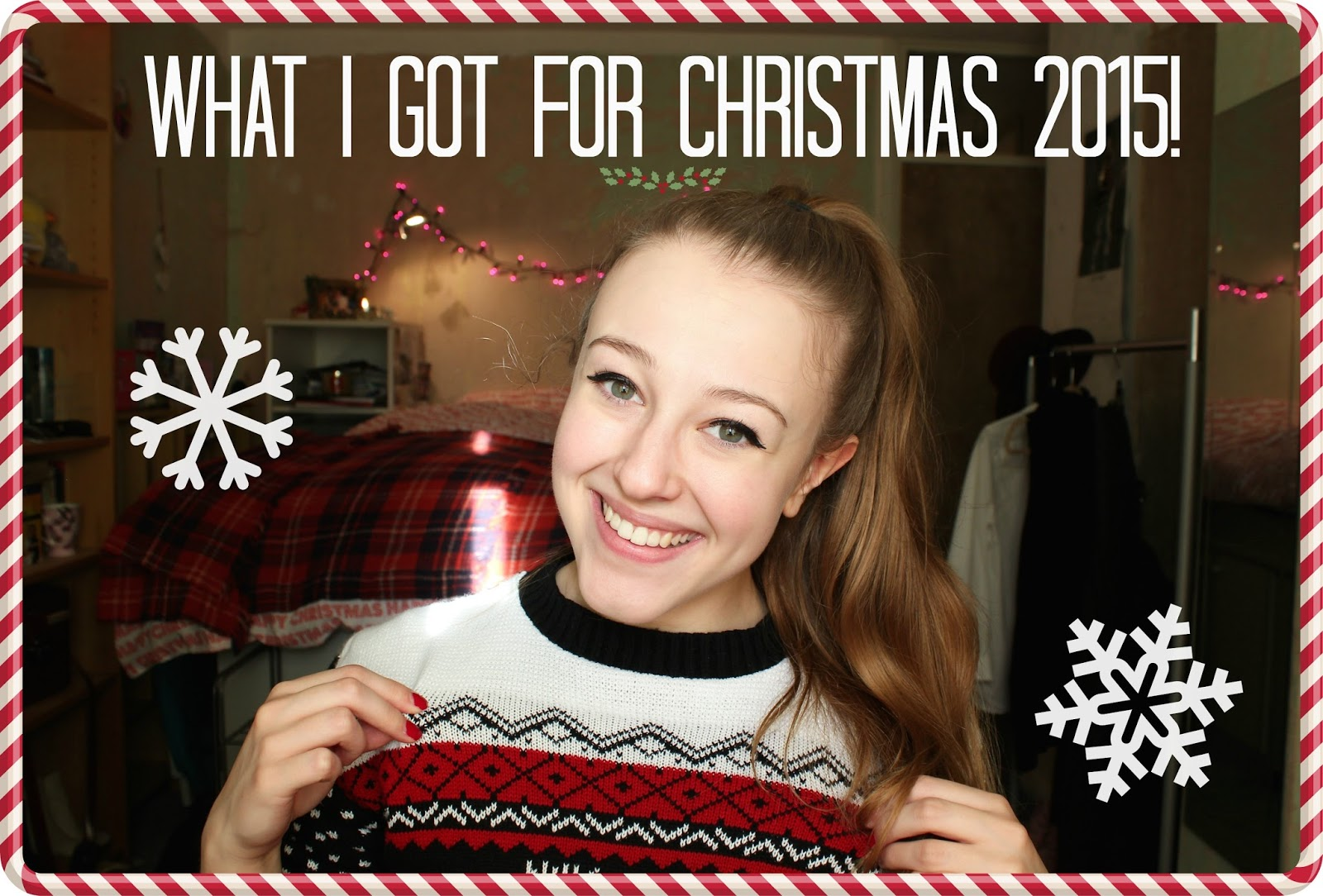 georgie minter-brown, actress, blogger, what i got for christmas, 2015, christmas, presents, gifts, youtube, youtuber