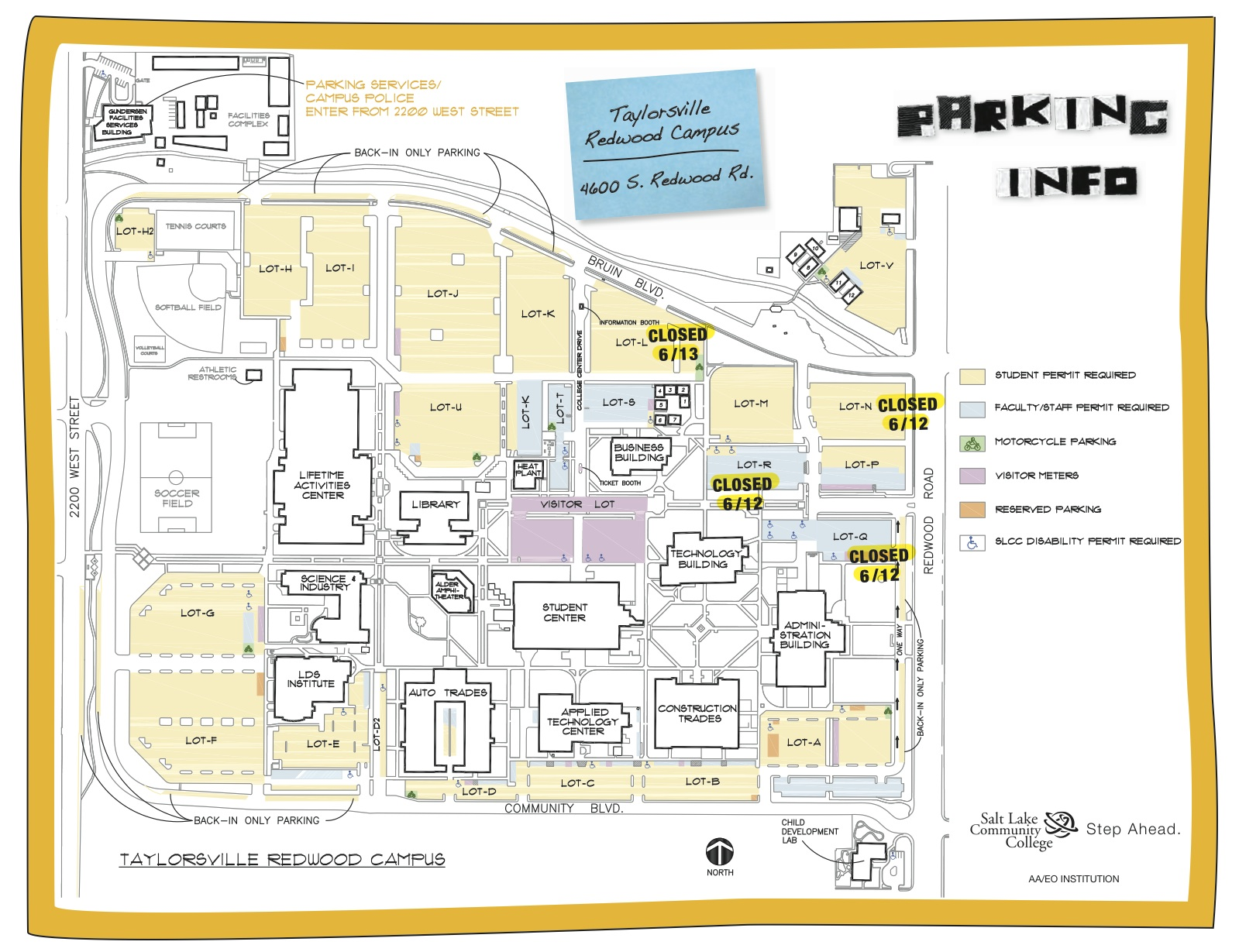 Slcc Campus Map The Fountain   The Official SLCC Blog: Brief Summer Parking Closures Slcc Campus Map