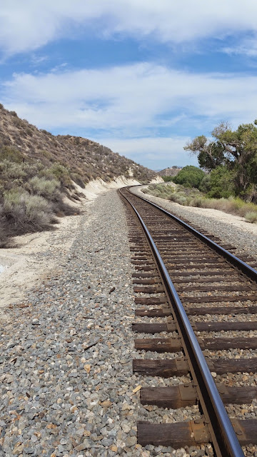 Image of railroad tracks on the PCT