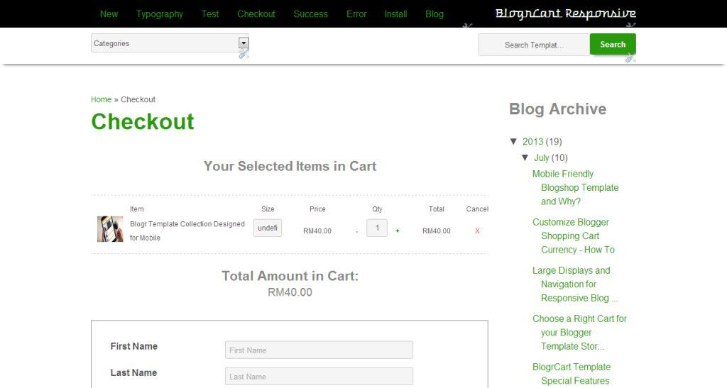 BlogrCart Responsive