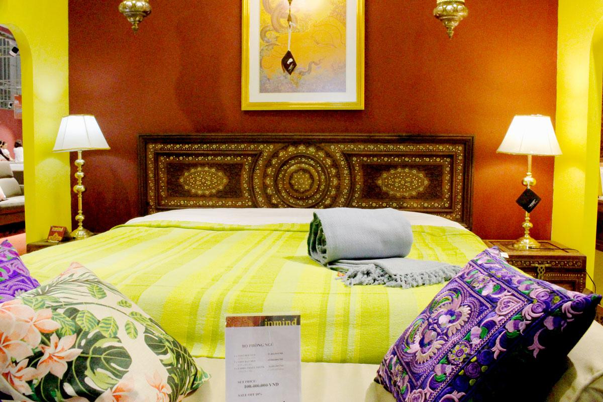 Mẫu giường ngủ chế tác từ gỗ thủ công