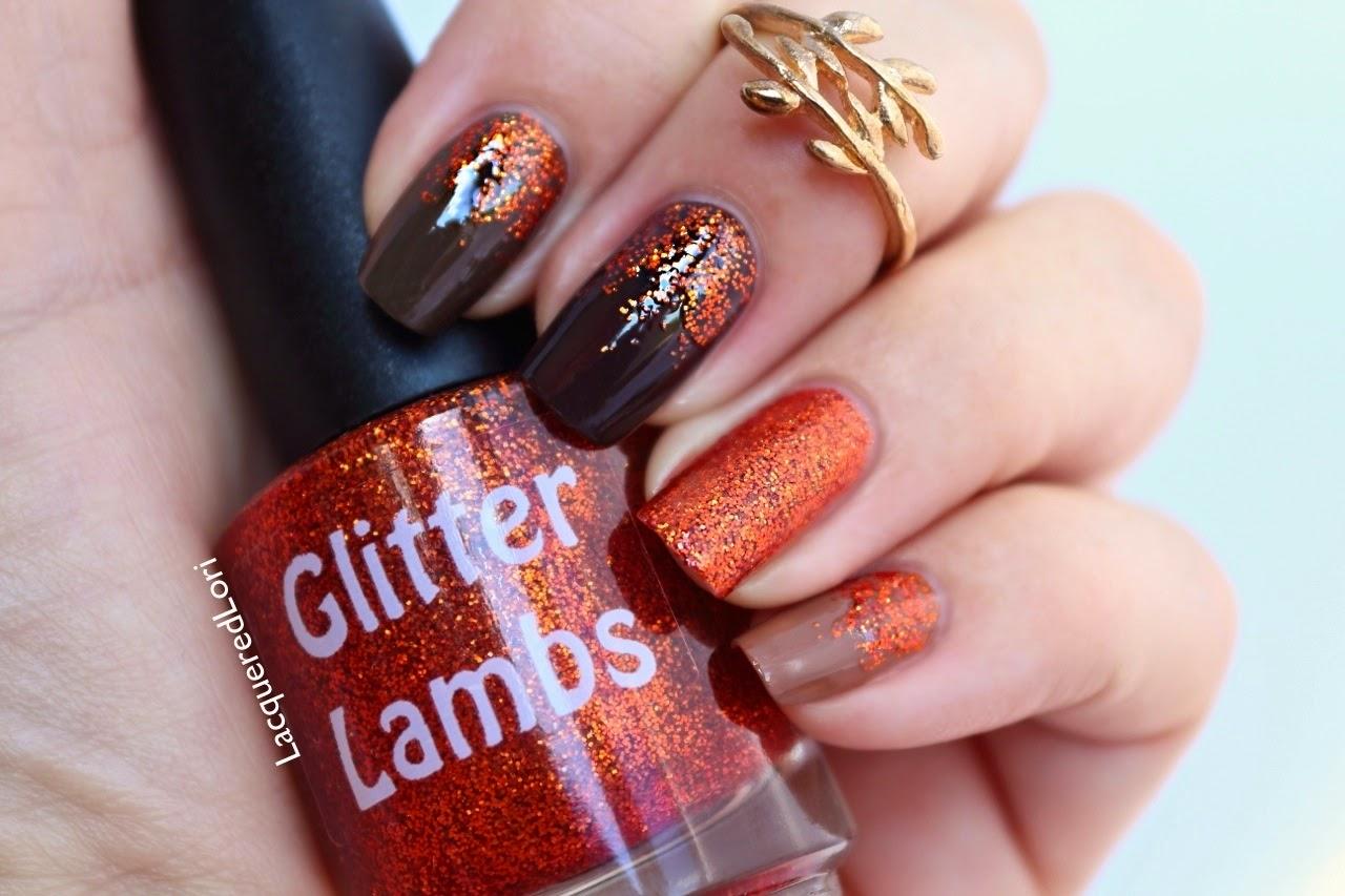 Pumpkin Spice Glitter Lambs Nail Polish