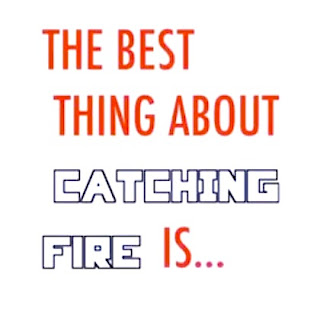The best thing about Catching Fire is... {Scholastic book trailer contest}