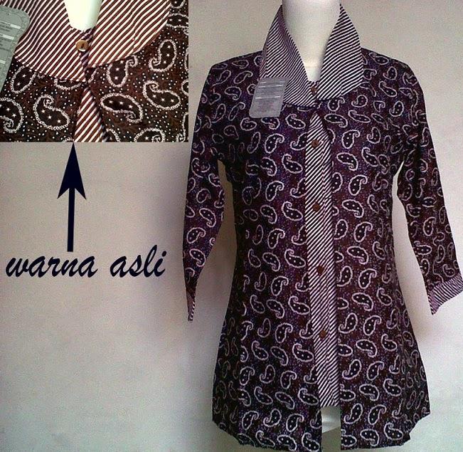 Model Baju Batik Lengan Panjang Modern: 11 Model Baju Batik Kerja Guru Lengan Panjang, Terpopuler