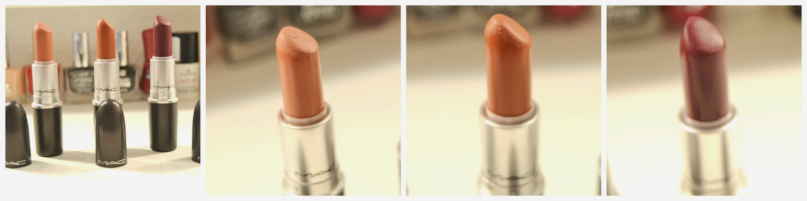 Mac Lipstick Matte Velvet Teddy Taupe Rebel Swatch