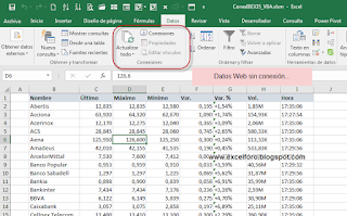 VBA: Importar Table HTML desde Web a Excel