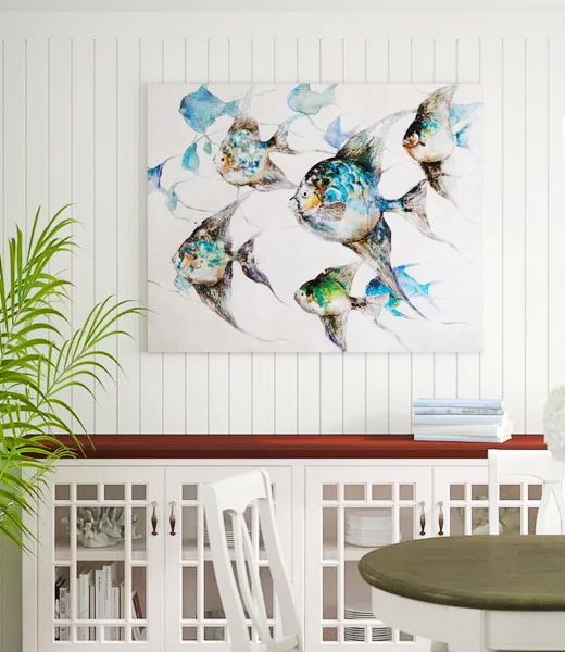School of Fish Art Prints Wall Decor