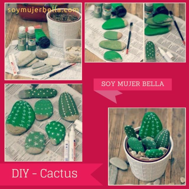 Cómo hacer pequeños cactus paso a paso