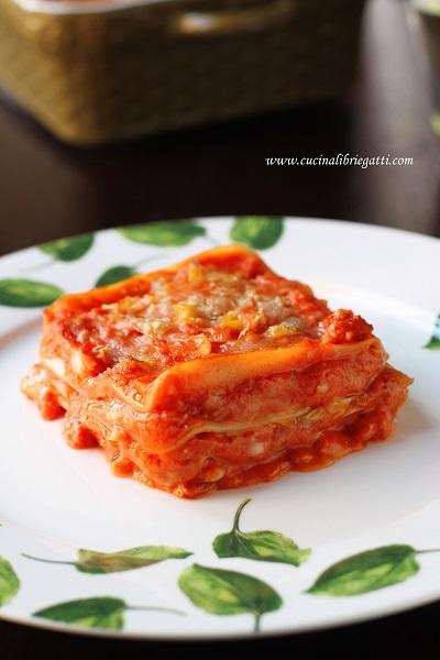 lasagne ragù salsiccia porri