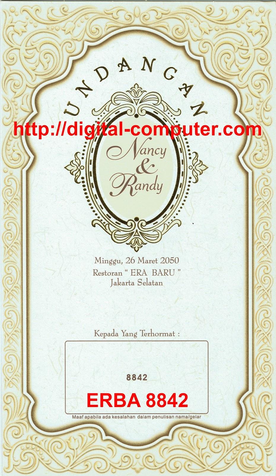 Undangan Softcover ERBA 8842