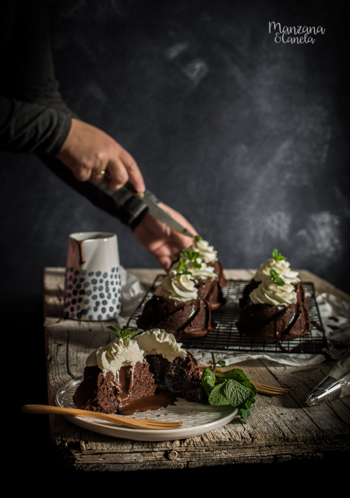 Mini bizcochos de chocolate y menta