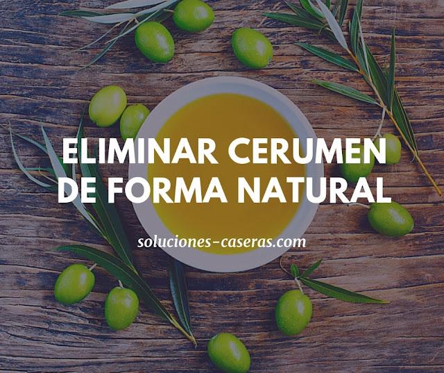 aceite de oliva cerumen