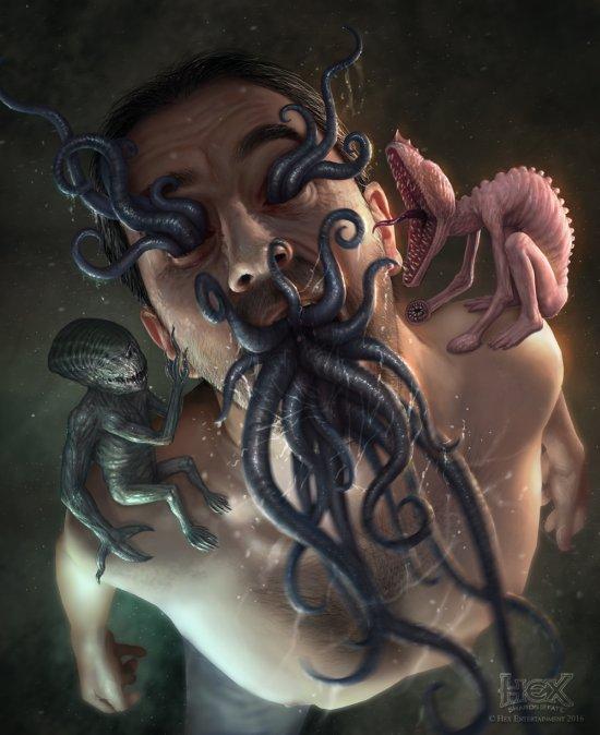 Martin de Diego Sádaba almanegra deviantart arte ilustrações fantasia terror sombrio surreal alien lovecraft hr giger