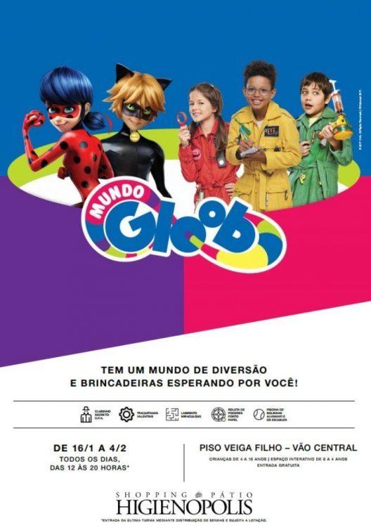 Shopping Pátio Higienópolis recebe atrações do Mundo Gloob