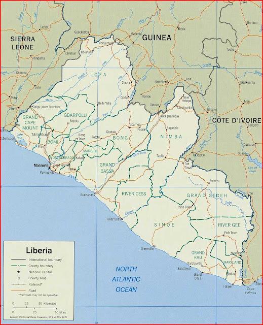 Gambar Peta politik Liberia 2004