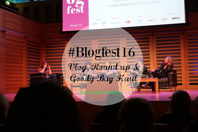 #Blogfest16 - blogging conference with interviews from Louise Pentland of Sprinkle of Glitter, SacconeJolys and Davina McCall - round up, vlog and goody bag haul